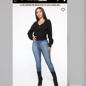 "Fashion Nova ""Tripped on Your Love Sweater"""